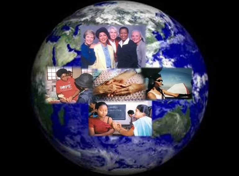 Zonta on the globe